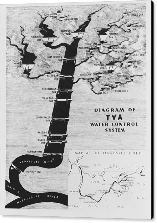 Daniel Hagerman - 1933 Tennessee Valley Aut... Print