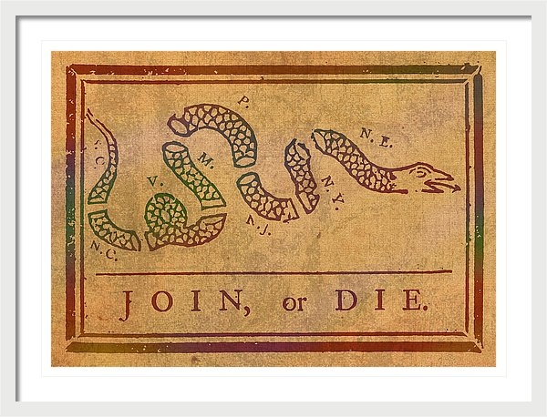 Design Turnpike - Join Or Die Benjamin Fran... Print