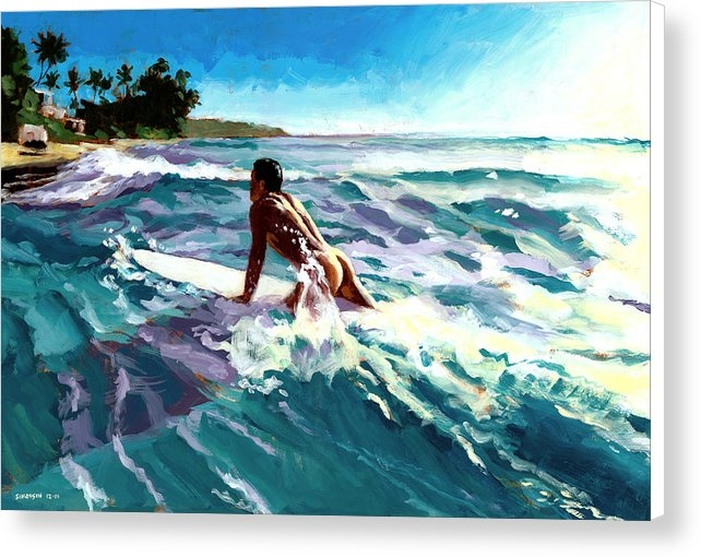 Douglas Simonson - Surfer Coming In Print