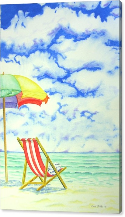 Chris Childs - Beach Deck Chair Print