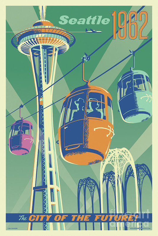 Jim Zahniser - Seattle Space Needle 1962... Print