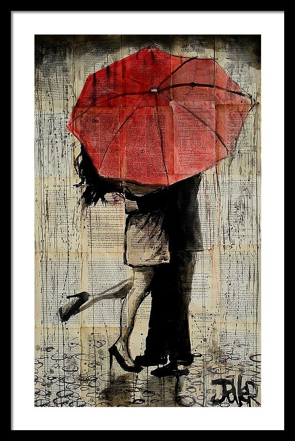 Loui Jover - The Red Umbrella Print