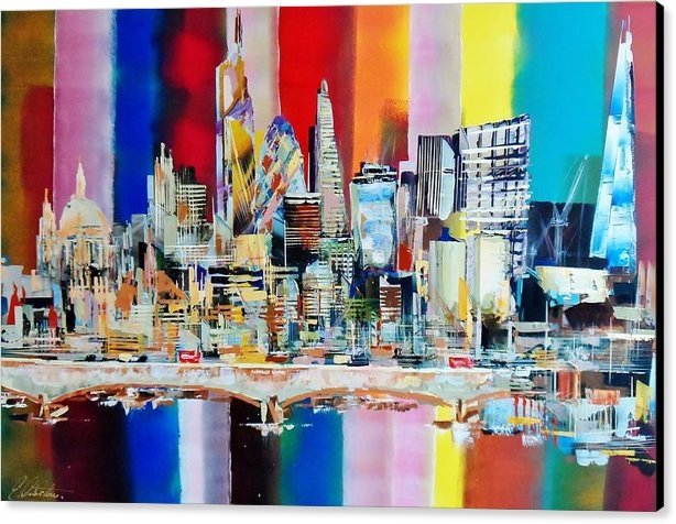 Eraclis Aristidou - London City Skyline Water... Print