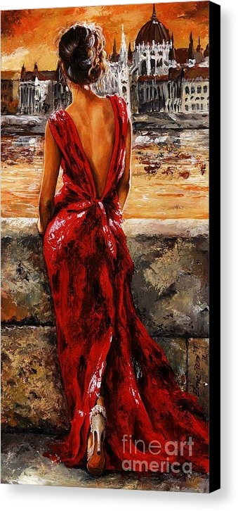 Emerico Imre Toth - Lady in red  34 -  I love... Print