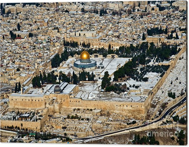 Arik Baltinester - Gold and white in Jerusal... Print