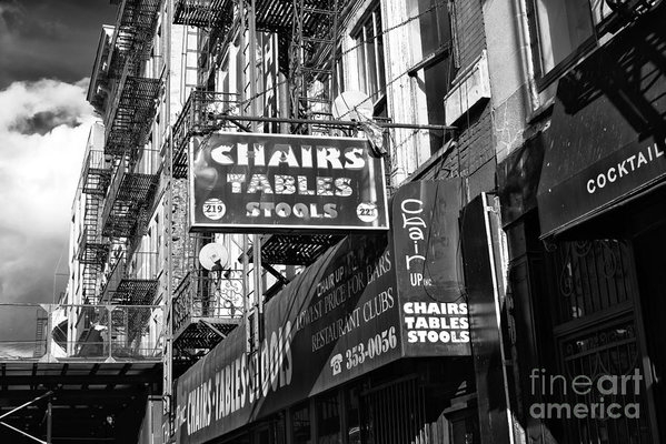John Rizzuto - Chairs Tables Stools Print