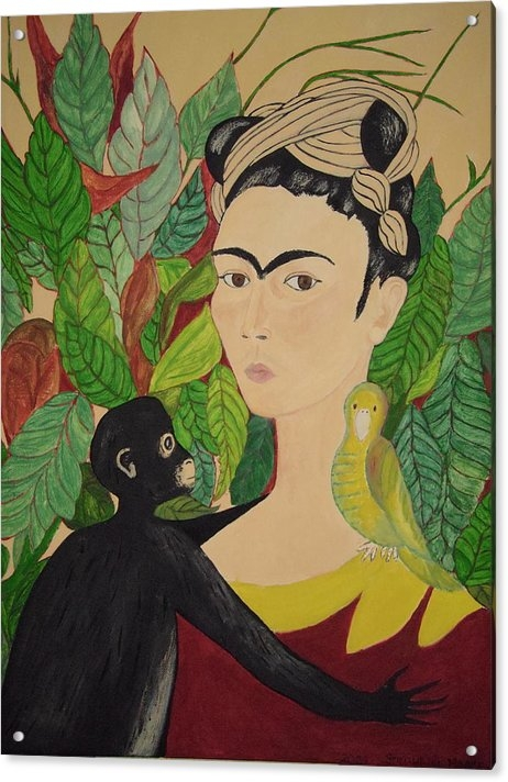 Stephanie Moore - Frida with Monkey and Bir... Print
