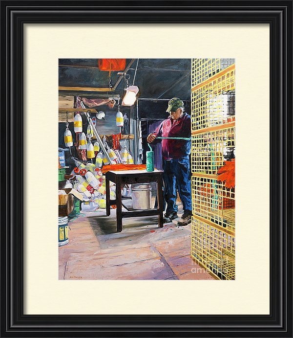 Lynne Schulte - Arnold in his Shop Print