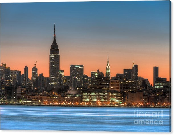 Clarence Holmes - Manhattan Skyline and Pre... Print