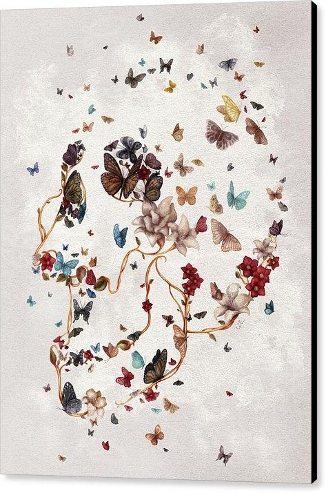 Francisco Valle - Skull Garden Print