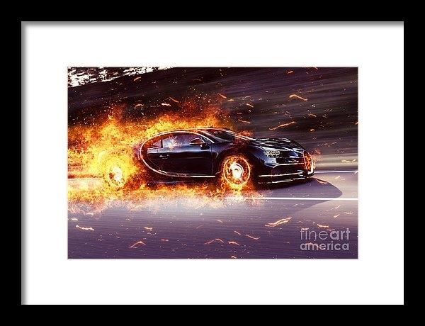 Vadim Pavlov - Bugatti Chiron Fire Print
