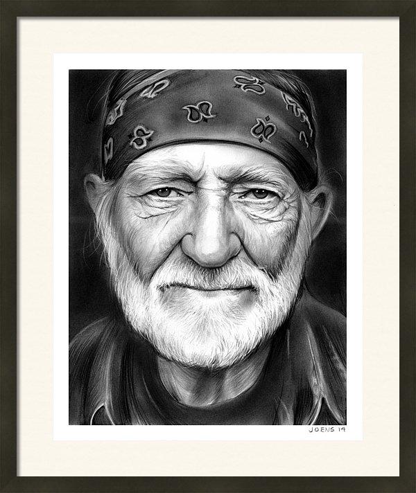 Greg Joens - Willie Nelson Print