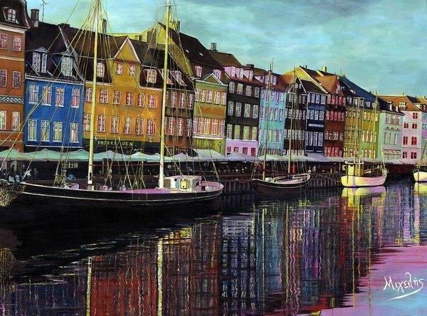 Dimitrios Michelis - Copenhagen Canal Print