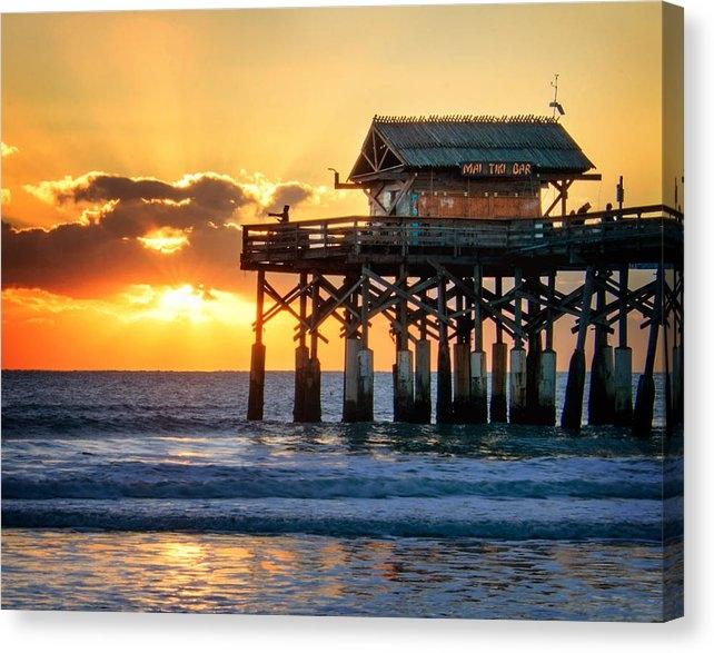 Vicki Jauron - Sunrise at the Mai Tiki B... Print