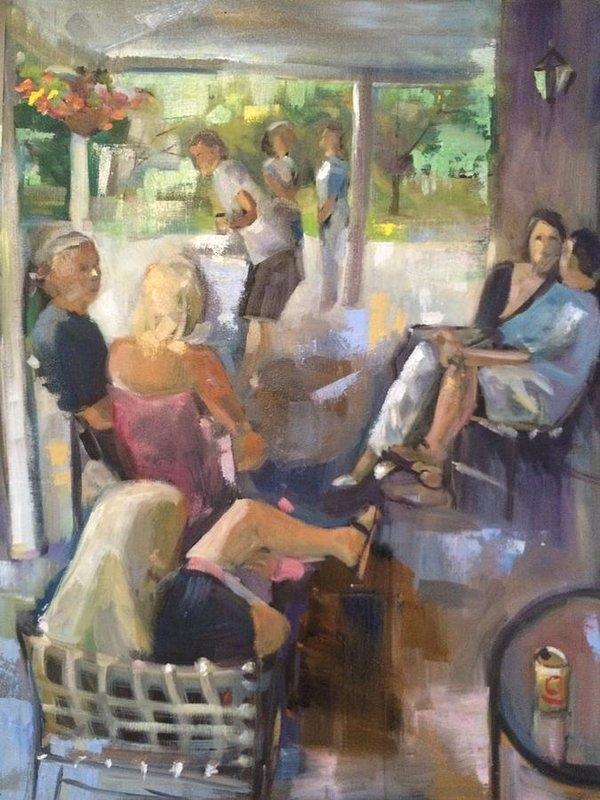 Judith McCabe Jarvis - Sunday party Print