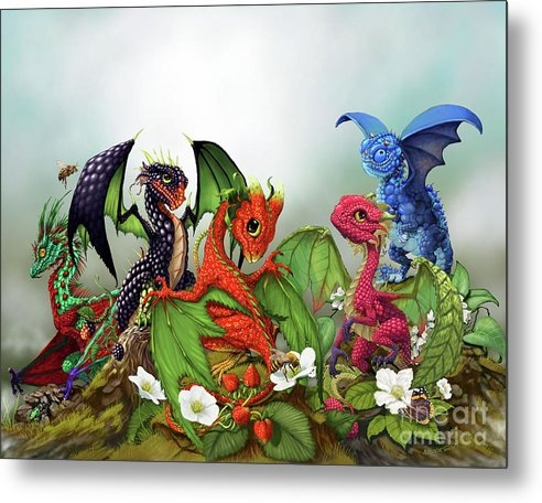 Stanley Morrison - Mixed Berries Dragons Print