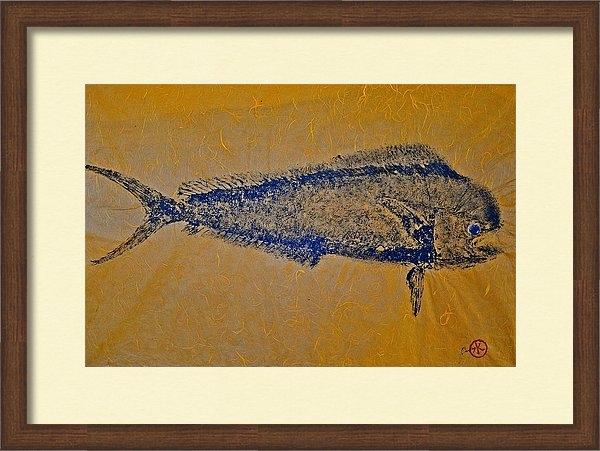 Jeffrey Canha - Gyotaku - Mahi Mahi - Dor... Print
