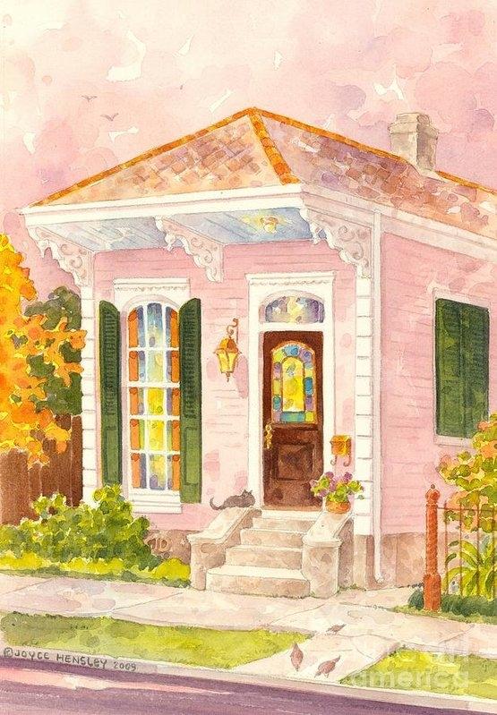 Joyce Hensley - New Orleans Shotgun House... Print