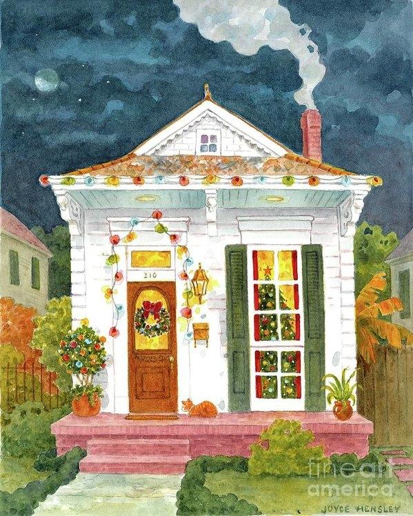 Joyce Hensley - New Orleans Shotgun at Ch... Print