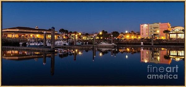 Dawna  Moore Photography - Fernandina Beach Skyline ... Print