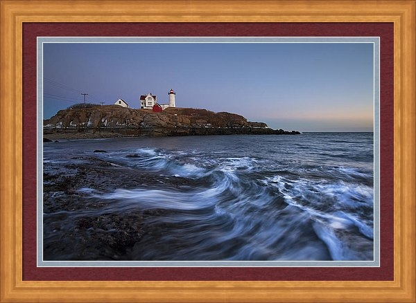 Eric Gendron - Evening Surf at Nubble Print