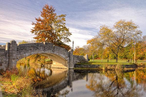 Geraldine Scull - Verona Park Bridge Print