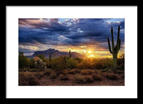 Saija  Lehtonen - A Sonoran Desert Sunrise Print