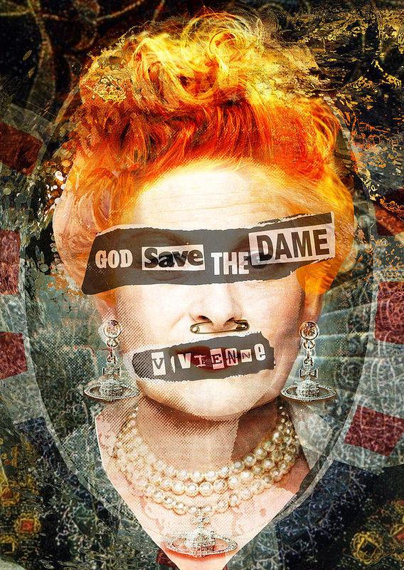 Big Fat Arts - God Save the Dame - Vivie... Print