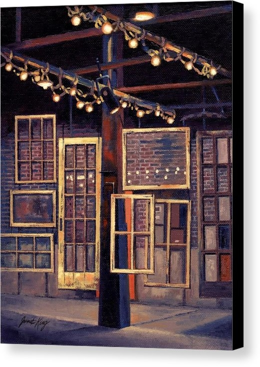 Janet King - Building 8 at the Factory Print