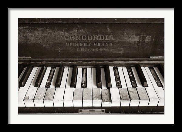 Jim Hughes - Old Piano Keys Print