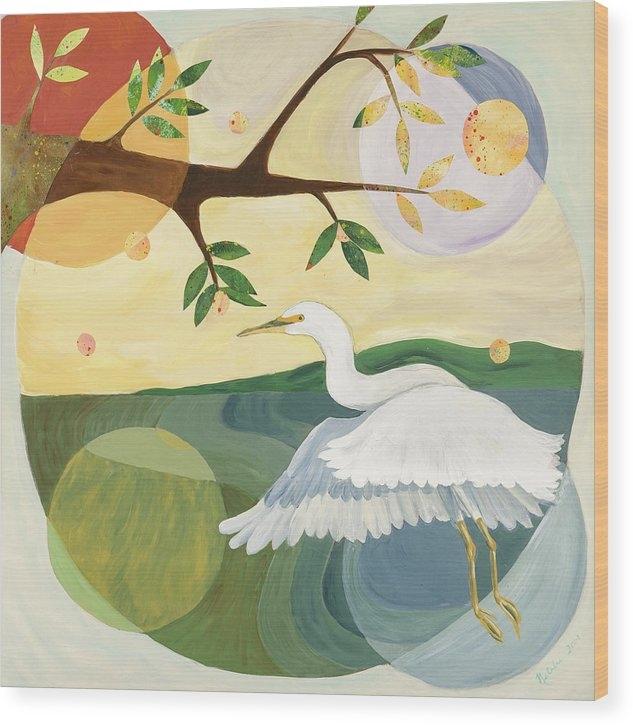Natalie Daise - Egret Mandala Print