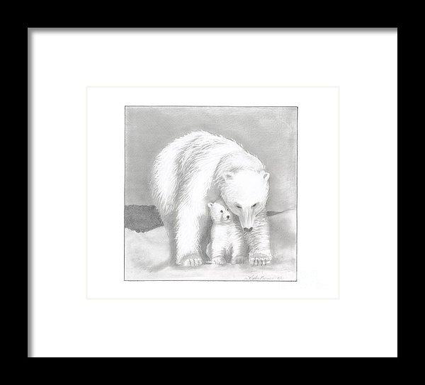 Kathy Burns - Mother and Cub Print