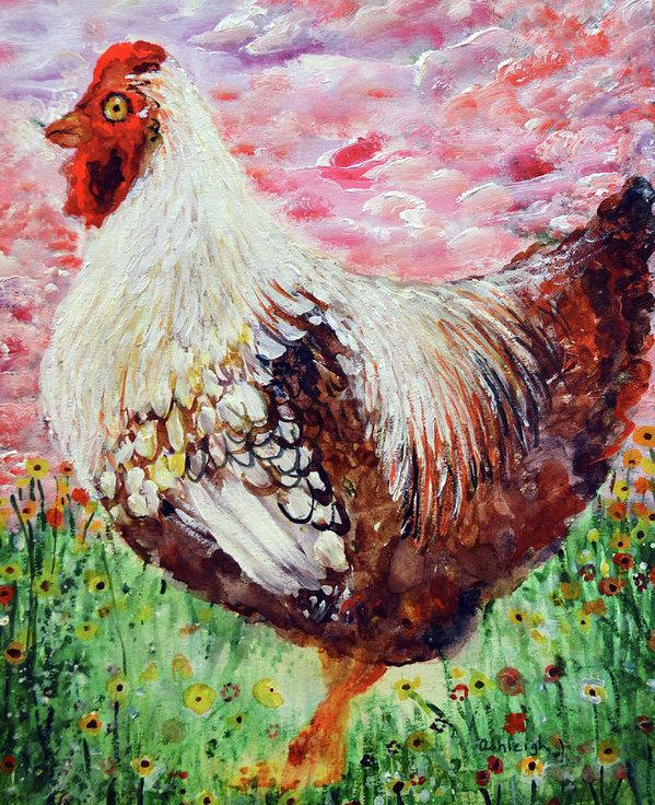 Ashleigh Dyan Bayer - Happy Chicken Print