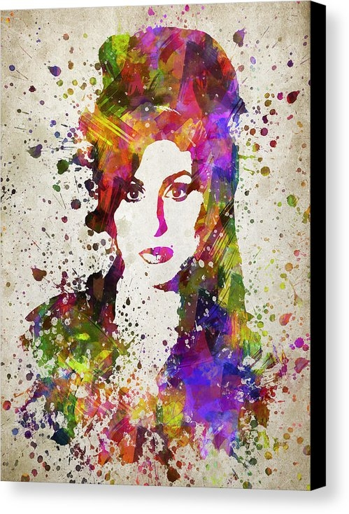 Aged Pixel - Amy Winehouse in Color Print