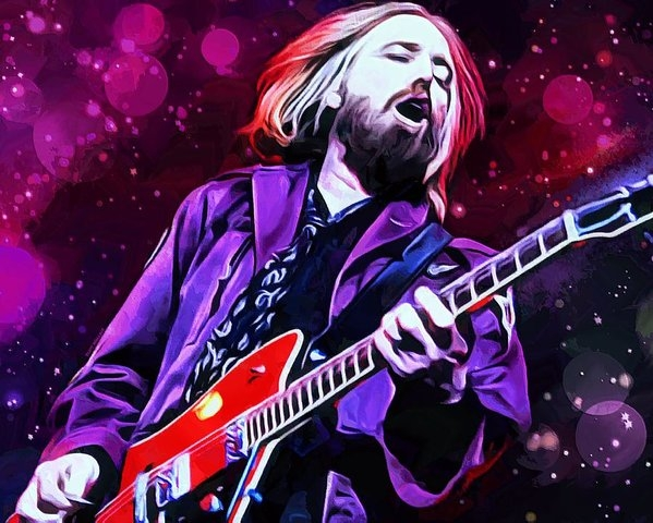 Scott Wallace - Tom Petty Painting Print