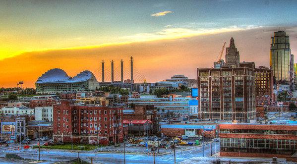 Jackie Eatinger - Sunset over Kansas City  Print