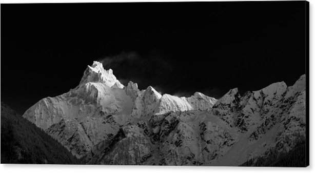 Michael Russell - Mount Redoubt in Black an... Print