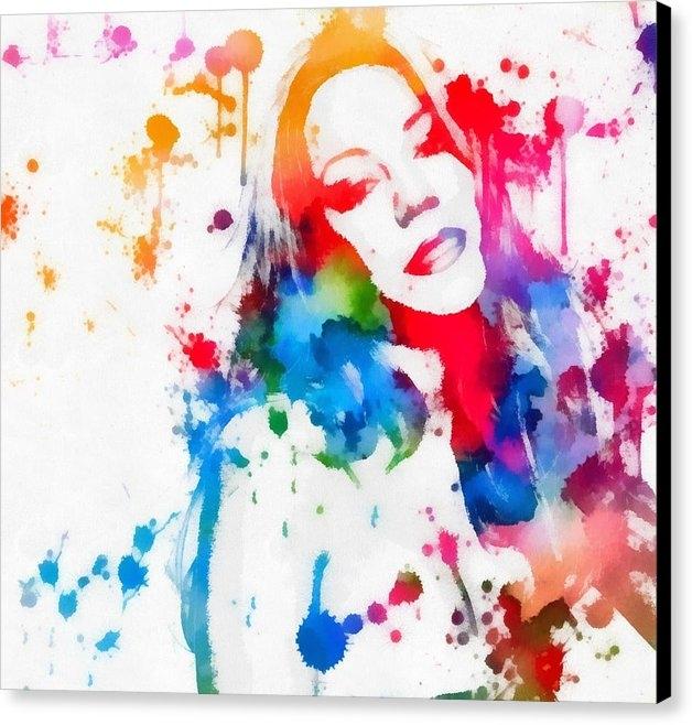Dan Sproul - Mariah Carey Watercolor P... Print