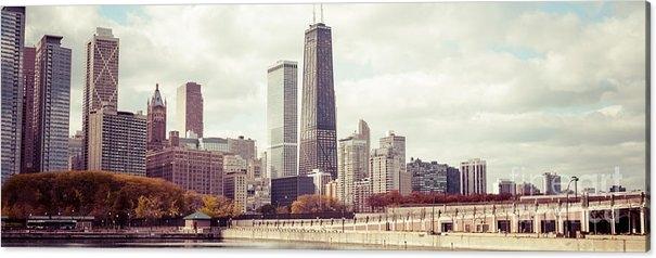 Paul Velgos - Chicago Skyline Vintage P... Print