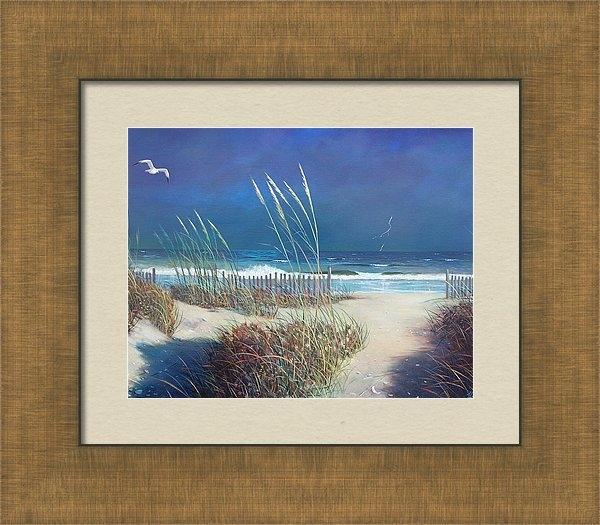 Blue Sky - Storm at Sea Print