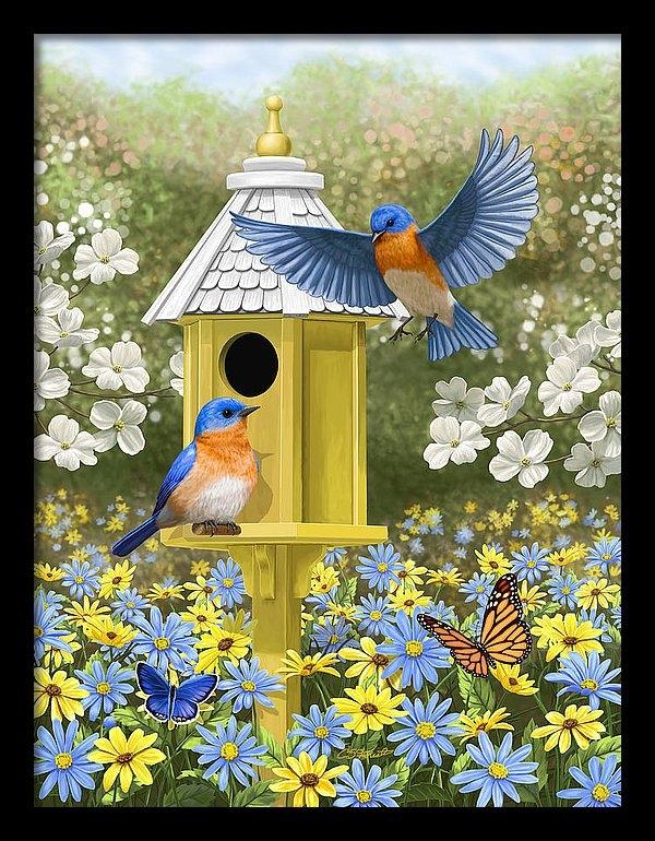 Crista Forest - Bluebird Garden Home Print