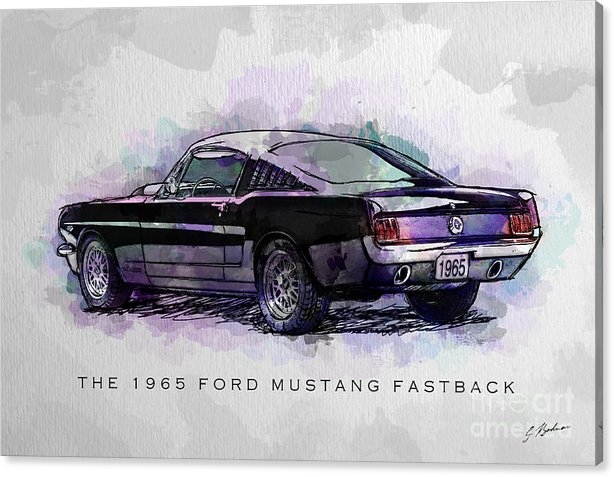 Gary Bodnar - Black Stallion 1965 Ford ... Print