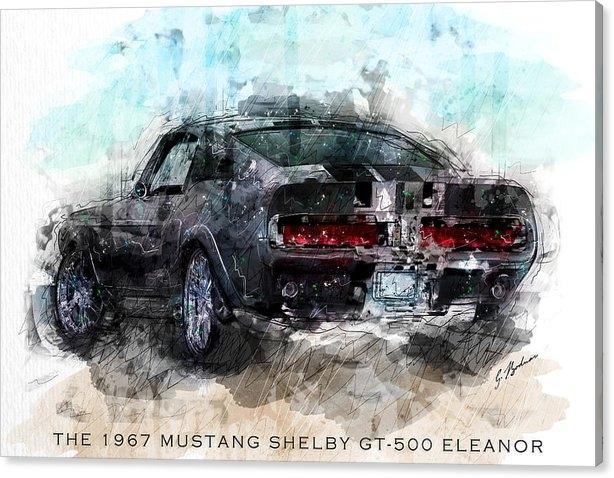 Gary Bodnar - The 1967 Shelby GT-500 El... Print