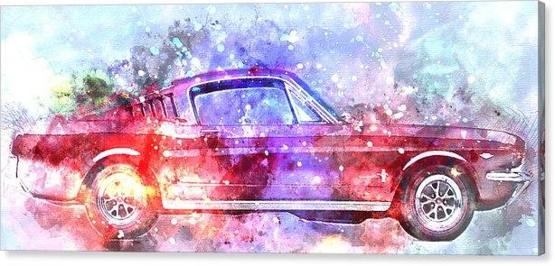 Diana Van - Colorful Ford Mustang 196... Print