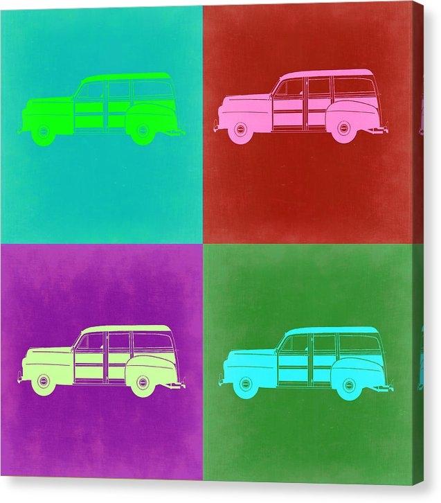 Naxart Studio - Ford Woody Pop Art  Print