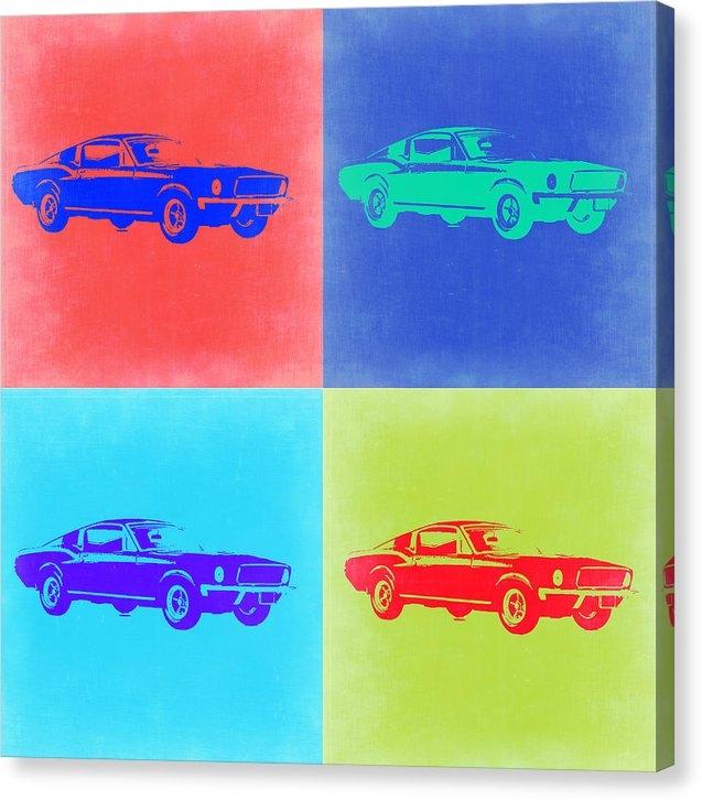 Naxart Studio - Ford Mustang Pop Art 2 Print
