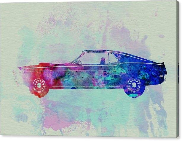 Naxart Studio - Ford Mustang Watercolor 1 Print