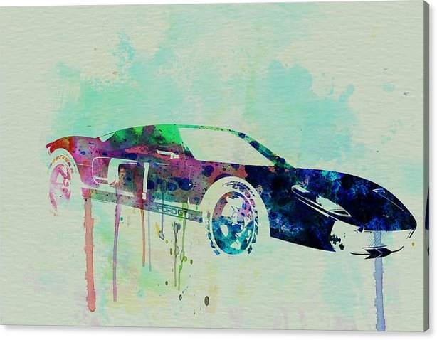 Naxart Studio - Ford GT Watercolor 2 Print
