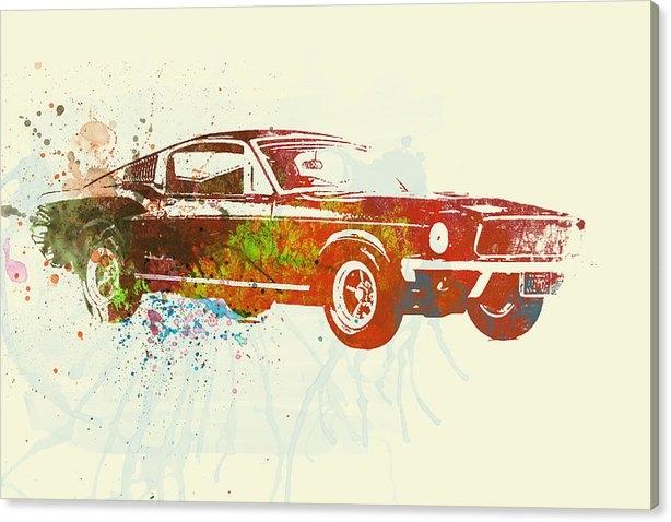 Naxart Studio - Ford Mustang Watercolor Print