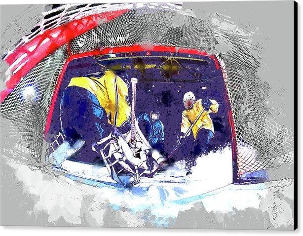 Elaine Plesser - Hockey Score Attempt from... Print